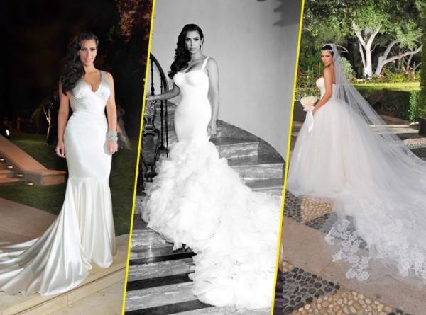 Devinez le nom du créateur de la troisième robe de mariée de Kim Kardashian