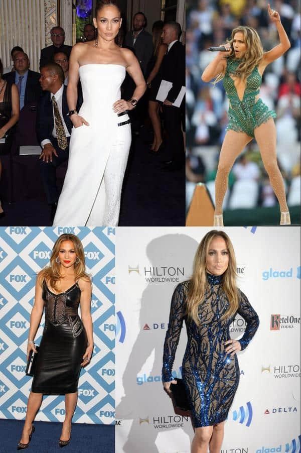 Robes sexy de Jennifer Lopez