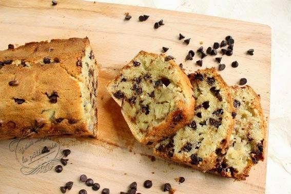 La recette du cake aux pépites de chocolat